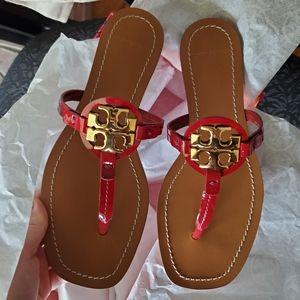 Tory burch MINI MILLER LEATHER THONG Sandals in Da